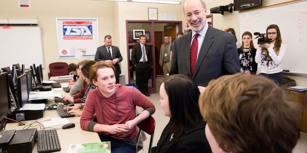 Gov. Tom Wolf in classroom