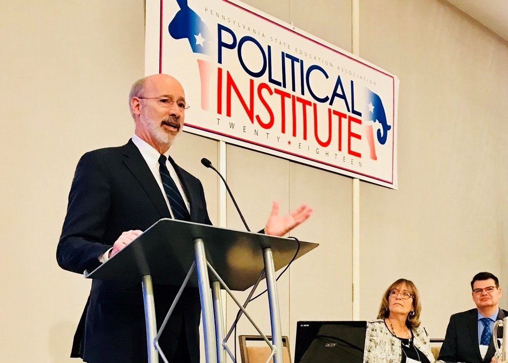 Gov. Wolf at PSEA's Political Institute